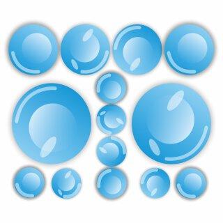 14 Seifenblasen Wand-Sticker I Ø 3 bis 8 cm