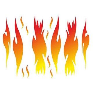 Sticker Set mit 14 Flammen I kfz_159