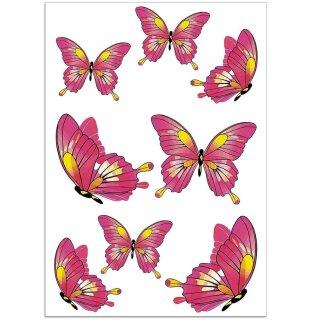 Aufkleber-Set Schmetterlinge