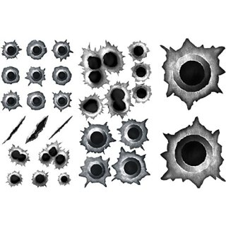 Einschuss-Löcher Sticker Set