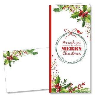 Weihnachtskarten-Set Merry Christmas