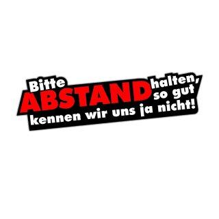 1 Sticker Bitte Abstand halten I kfz_112 I 16 x 4,5 cm