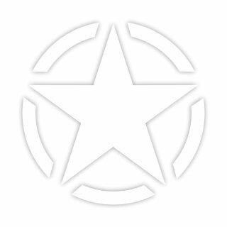 Aufkleber Army Stern I weiß I Ø 60cm