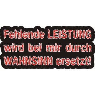 Sticker Fehlende Leistung I kfz_100 schwarz I 16 x 7,5 cm