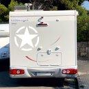 Aufkleber Army Stern I weiß I Ø 80cm I außenklebend I Auto LKW I UV- und witterungsbeständig Waschanlagen geeignet I kfz_405